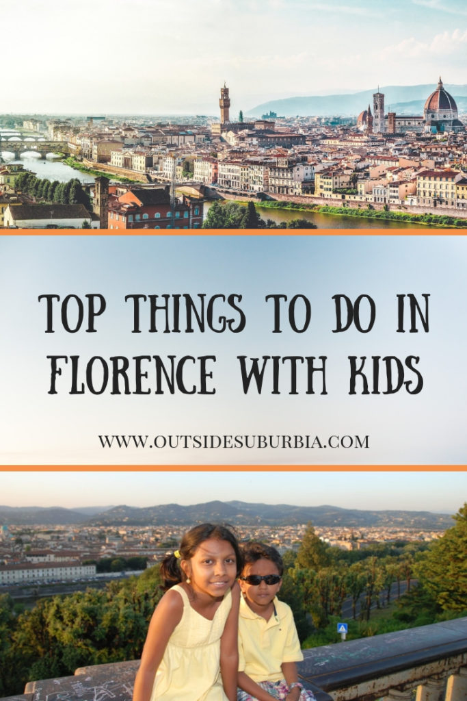 Florence is one of Europe's great art cities, there is so much exquisite art and architecture, it's difficult to know where to start. Start with these, top ten things to do in Florence for your first visit to the city often referred to as the cradle of the Renaissance. #FlorenceWithKids #Florence #OutsideSuburbia #FlorenceThingsTodo