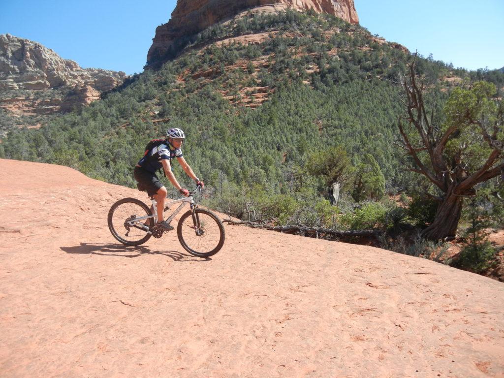 We saw a few bikes braving the rocky terrain in Sedona