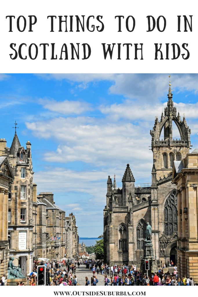 3 day Edinburgh Itinerary and 10 things to do in Scotland including looking for Loch Ness Monster, tasting Scotch Whishey, visiting Harry potter's Alnwick castle... #ThingstodoinScotland #ScotlandWithkids #OutsideSuburbia