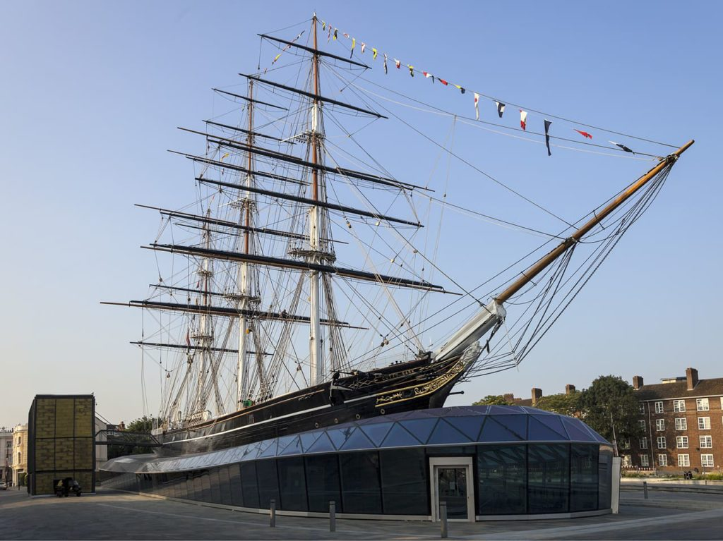 Cutty Sark - a British clipper ship that you can visit in Greenwich right by the pier