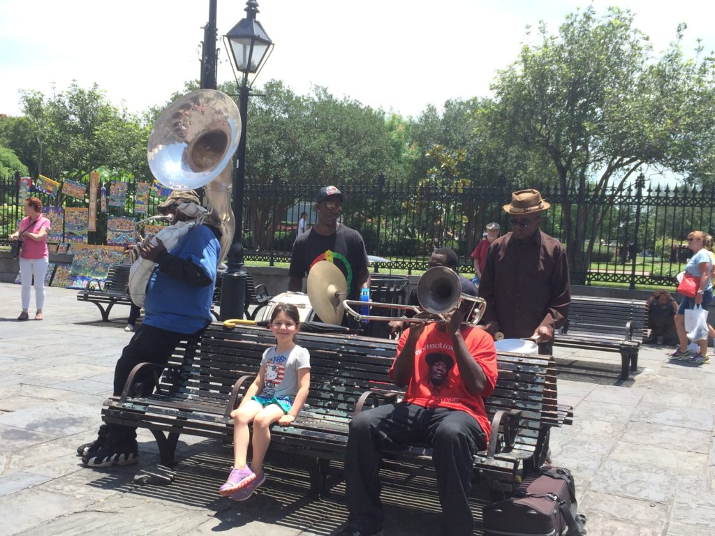 Street performers at Jackson Square