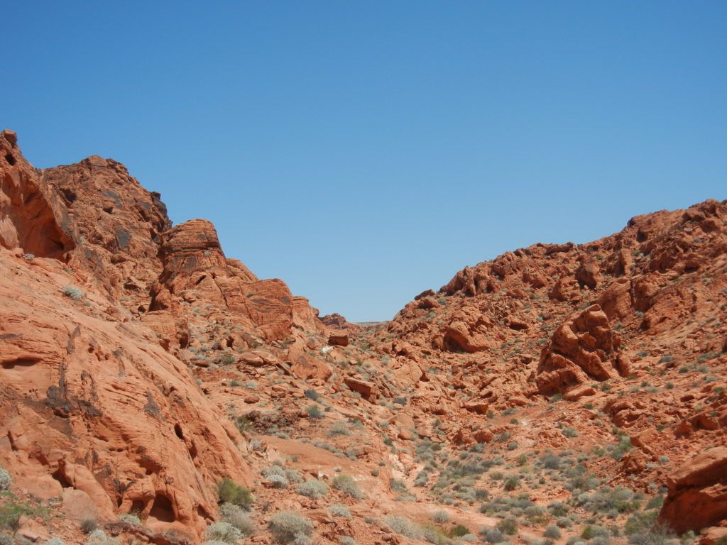 Hiking at the Red Rock Canyon