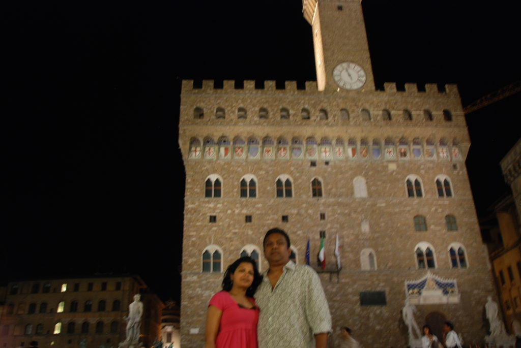 A very blurry photo but vivid memories at the Piazza della Signoria :)