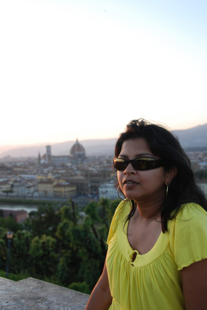 Sunset from Piazzale Michelangelo with Florence in view