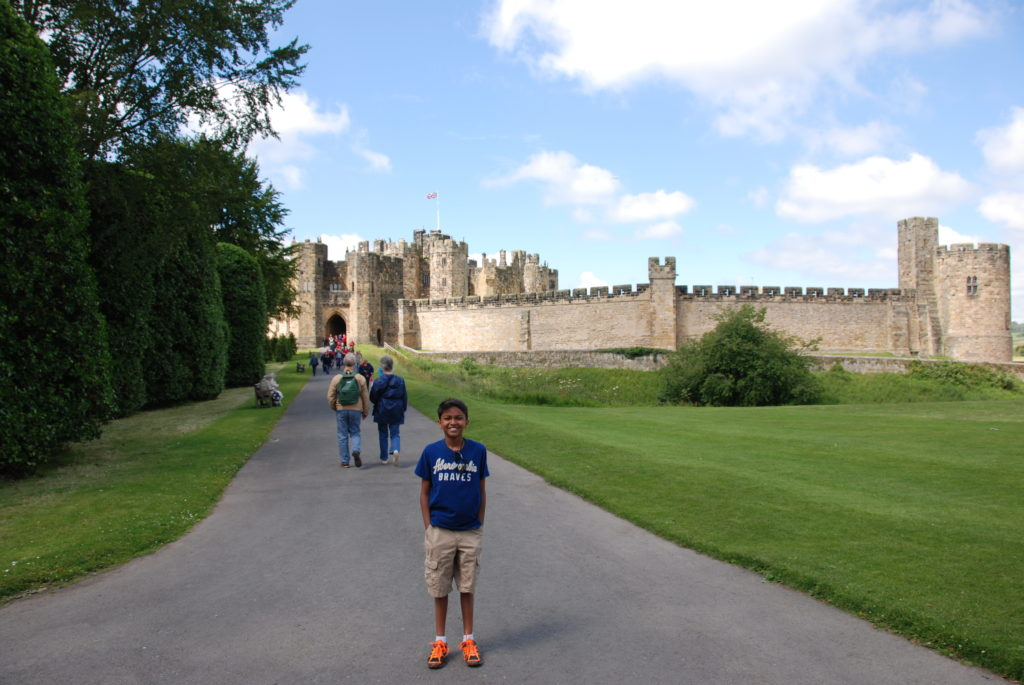 Harry potter's Alnwick castle and the Scottish Lowlands