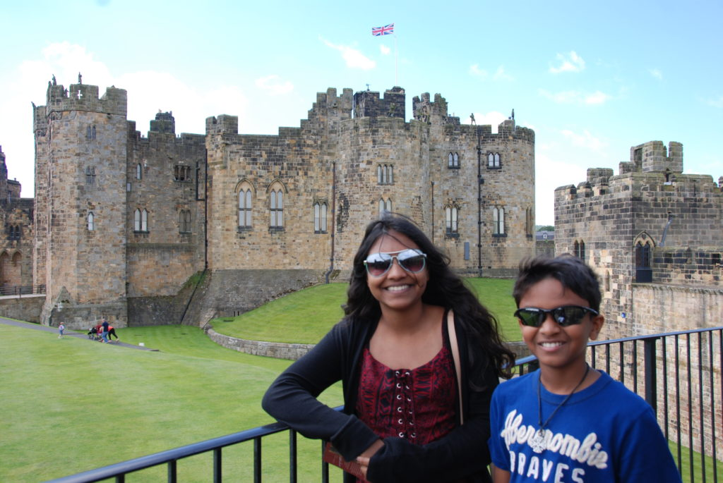 Alnwick Castle where Harry Potter movie was filmed