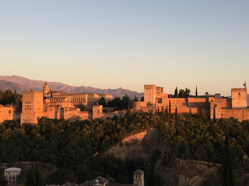 Sunset over Alhambra in Granada, Spain - Photo by Outside Suburbia