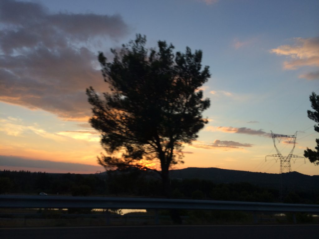 Sunset over Provence