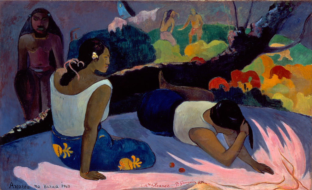 Paul Gauguin Arearea_no_varua_ino(Amusement of the Evil Spirit)