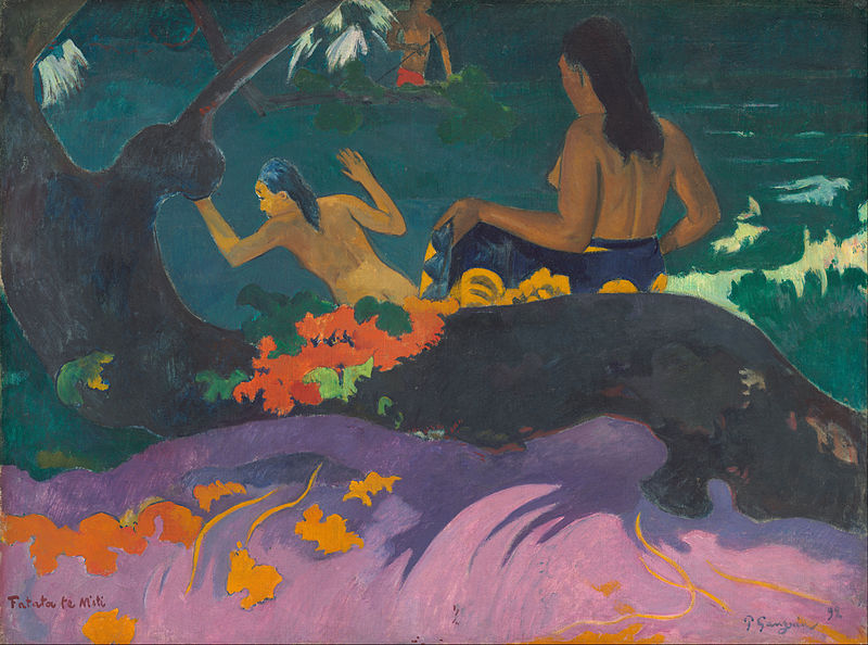 Paul Gauguin   - Fatata_te_Miti_(By_the_Sea)