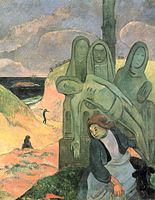 Paul Gauguin  - Green Christ