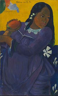 Paul Gauguin  Vahine_not_te_vi (Woman with a Mango)
