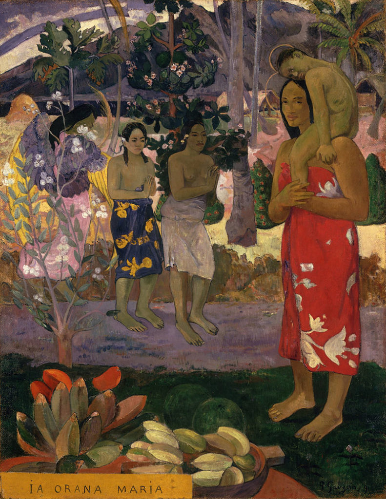 Paul Gauguin   - la_Orana_Maria_(Hail_Mary)