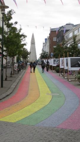 Skólavörðustígur -- the street that leads to Hallgrímskirkja