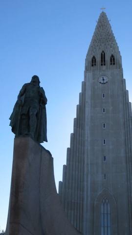 Hallgrimmskirkja is the central landmark in Reykjavik.