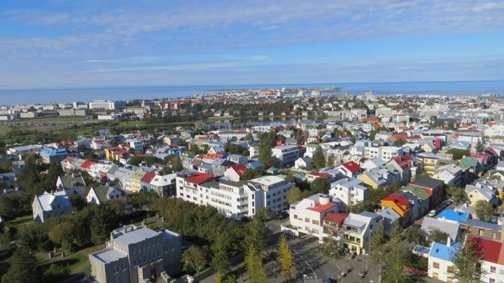 It's worth a trip to the top of the clock tower for this amazing view of Reykjavik.