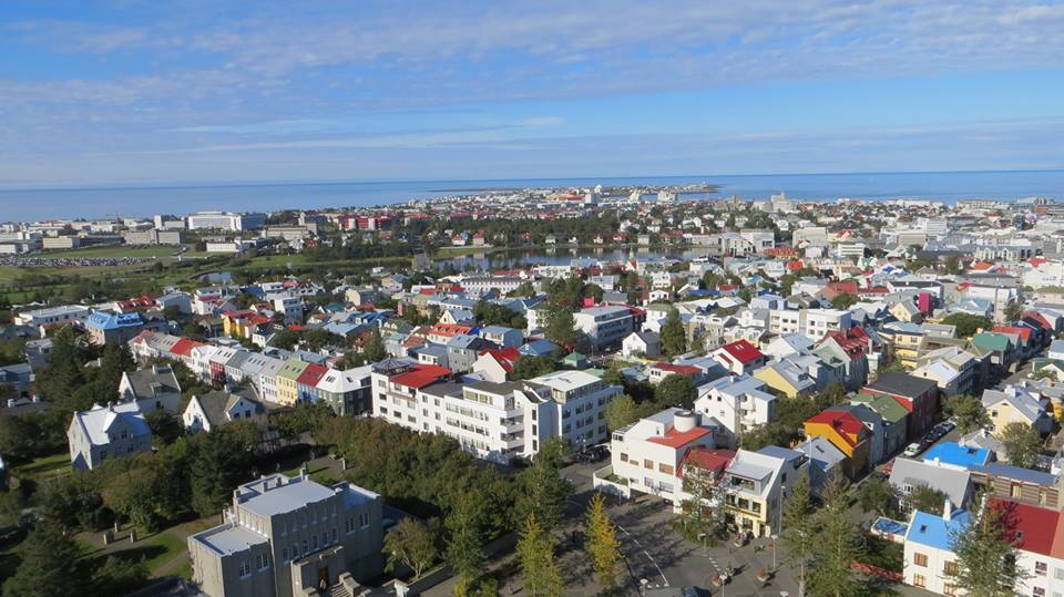 It's worth a trip to the top of the clock tower for this amazing view of Reykjavik. : Itinerary for seeing the Best of Iceland in a week