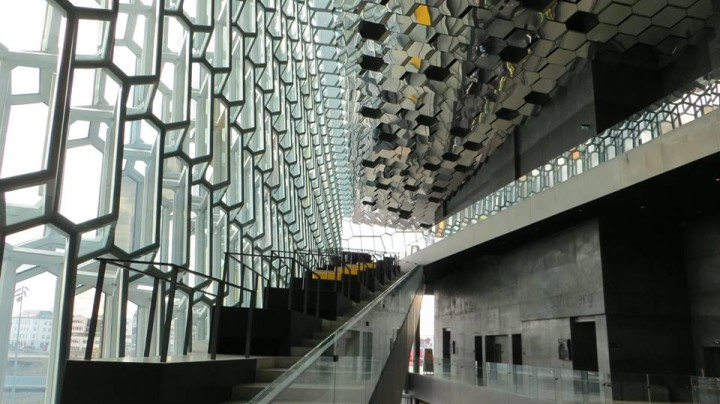 Take some time to explore inside the Harpa. The use of glass and mirror is very interesting.