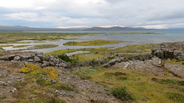 Thingvellir National Park has some amazing views. The water that flows through the park is crystal clear.
