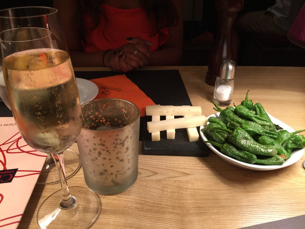 Cava, cheese and Sereno Peppers - a great combination | Outside Suburbia
