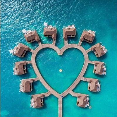 Beautiful Hear shaped Overwater Bungalow around the World | Outside Suburbia