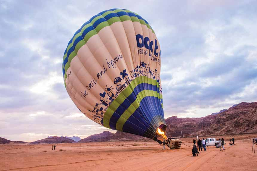 Hot Air Balloon Flight at Wadi Rum