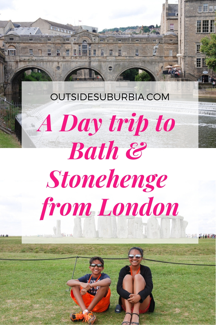 Photo blog of a day trip to Bath and Stonehenge from London #DayTripsFromLondon #Stonehendge #LondonWithkids #OutsideSuburbia