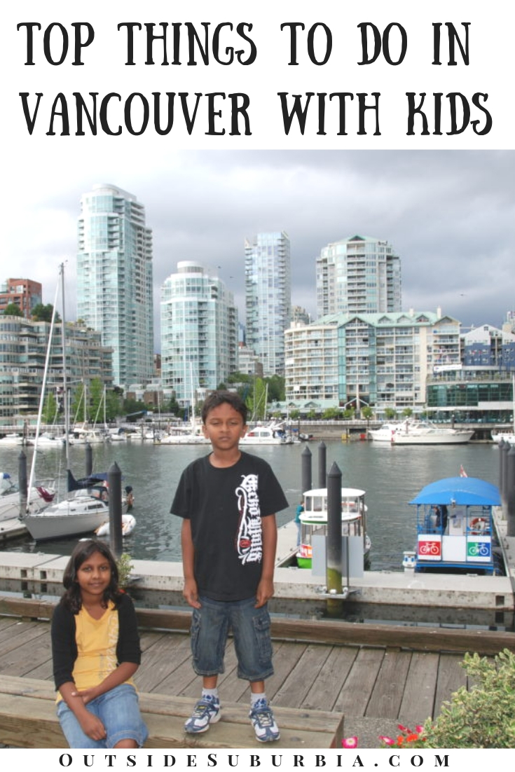 From bike rides around the park, walking on a suspended footbridge to counting Inuksuk - there are plenty of outdoor activities and indoor attractions and fun things to do in Vancouver with kids. #VancouverWithKids #VancouverThingstodo #Vancouver #OutsideSuburbia