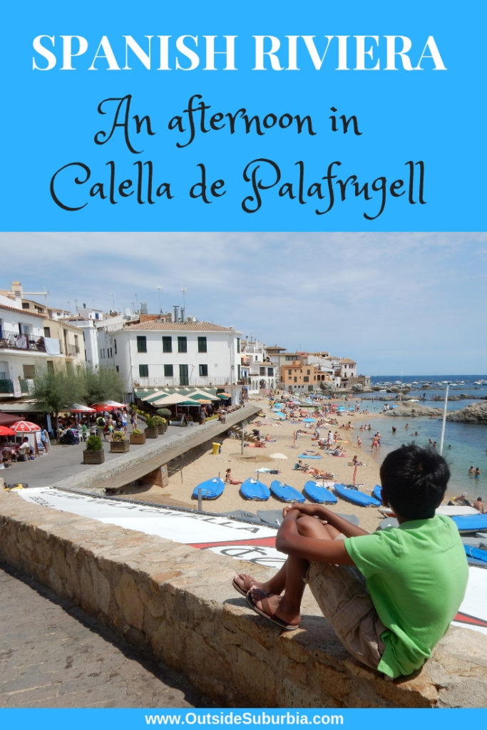 Spain is almost entirely surrounded by beautiful coasts kissed by the Mediterranean and the Southern Atlantic. Our favorite one day trip from Barcelona was an afternoon at Calella de Palafrugell, which we like to call the Spanish Riviera. #OutsideSuburbia #SpainshRiviera #CalelladePalafrugell #CostaBrava #CatalanCoast