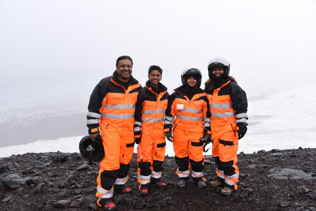Snowmobile tour on Iceland's Mýrdalsjökull glacier