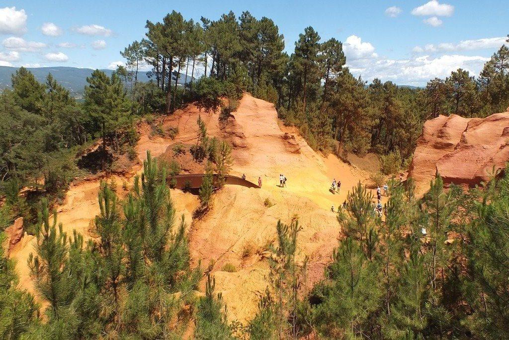 The Ochre Trail near Roussillon en Provence