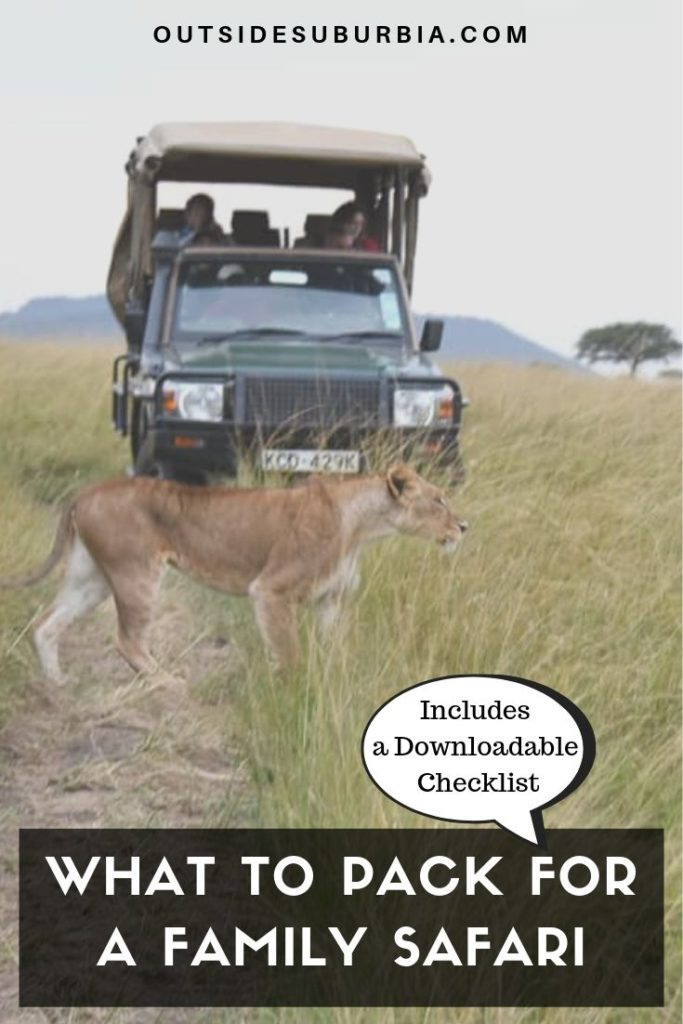 What to palc for a Family Safari (Includes a downloadable checklist) | Outside Suburbia
