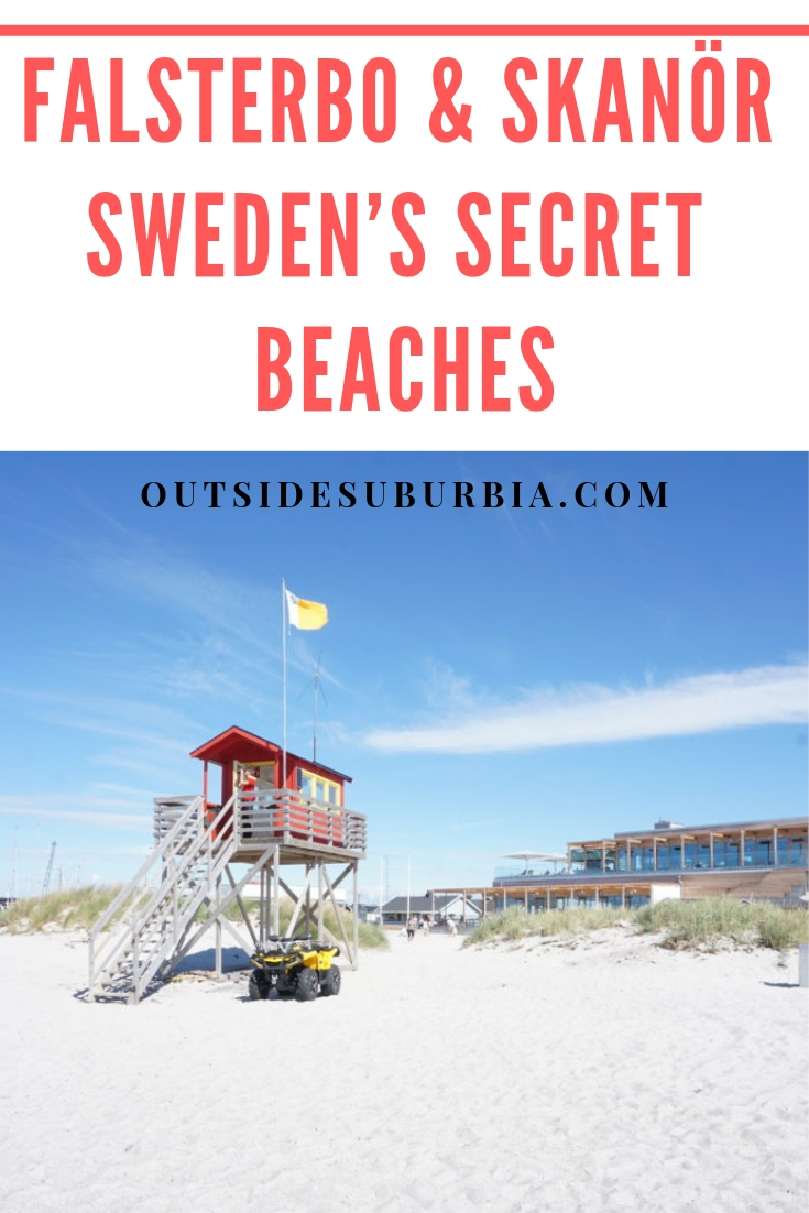 Falsterbo and Skanör, The Secret beaches of Sweden are beautiful with white sand and clear calm turquoise waters. #Falsterbo #SwedishRiviera #OutsideSuburbia #SecretBeachesOfSweden