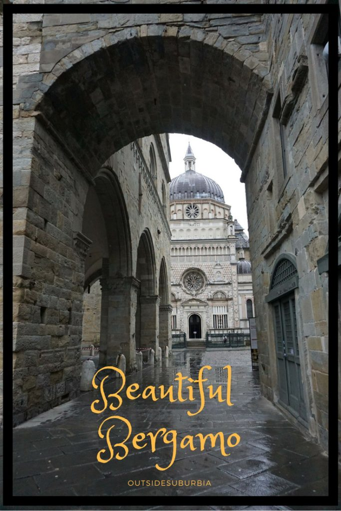 The beautiful old city of Bergamo called theCittà Alta sits high on the hill overlooking the modern city and is a quick drive from Milan. Here is how to spend a day in Bergamo, Italy. #Italy #Bergamo #OutsideSuburbia #DayTripsFromMilan #BergamoInADay #WhattoseeinBergamo