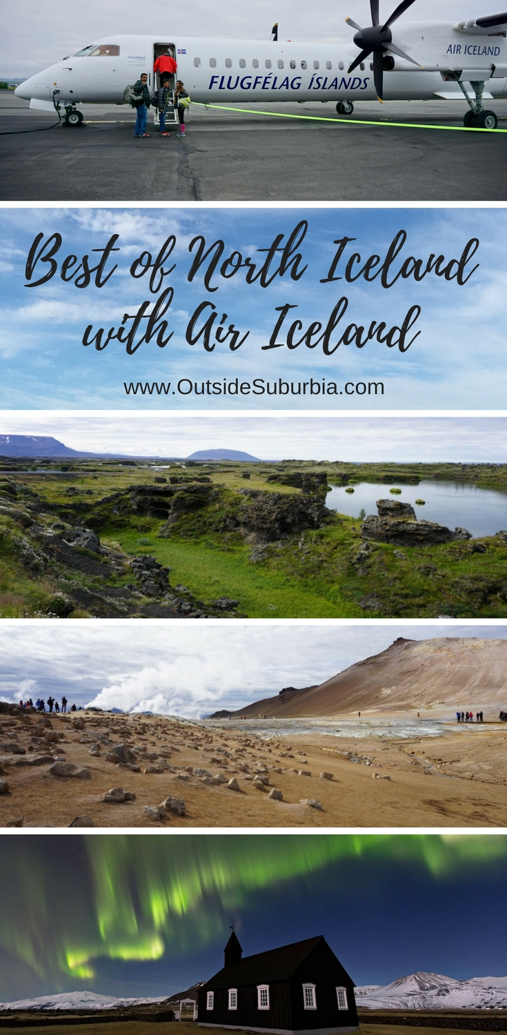 Visiting beautiful areas like Lake Myvatn, Godafoss, Akureyri and other vistas in North Iceland is possible as a day tour from Reykjavik with Air Iceland #Iceland #DiamondCircleIceland