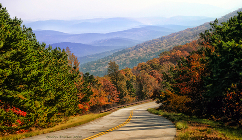Talimena National Scenic Byway in the Ouachita National Forest