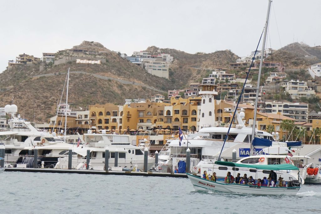 The view of Pedregal as we leave the Marina