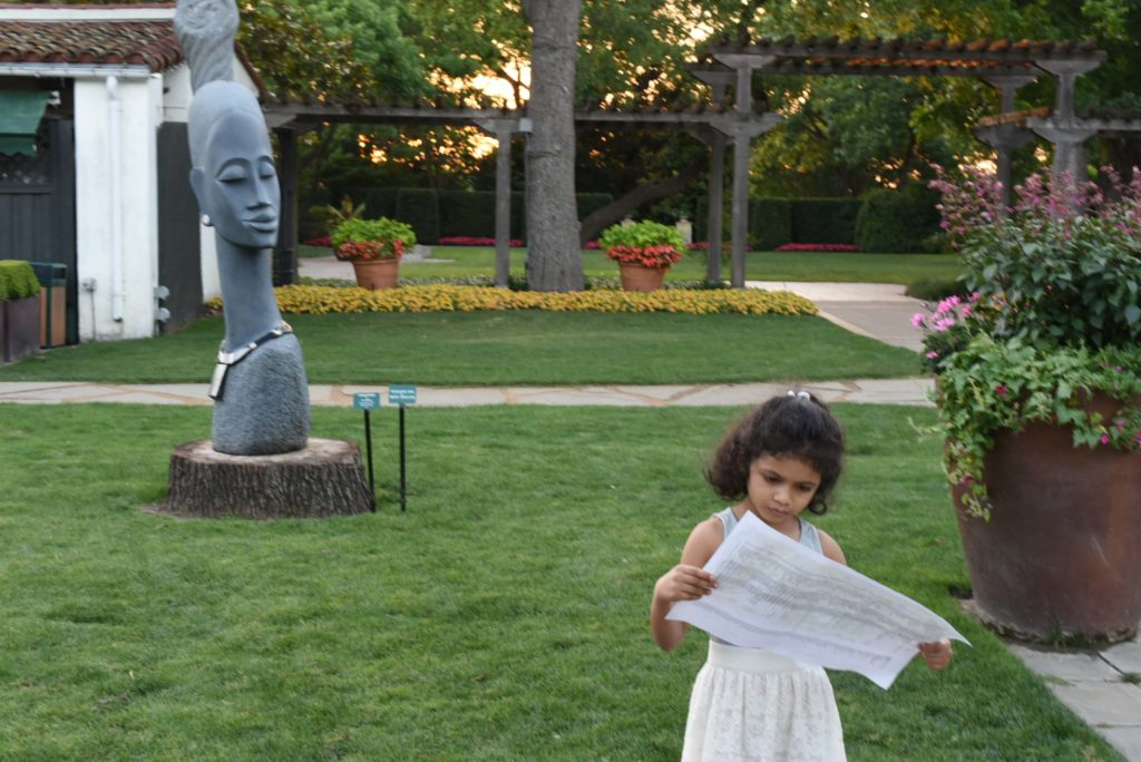 A visit to see the ZimSculpt at the Dallas Arboretum | Outside Suburbia