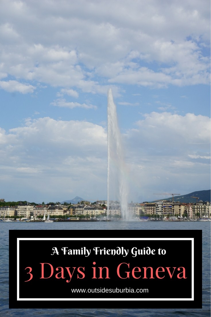 Geneva lies on the most southernmost tip of Lac Léman. Geneva is a city of peace and the home of the Palais des Nations and CERN. #OutsideSuburbia #Geneva #ThingstodoinGeneva