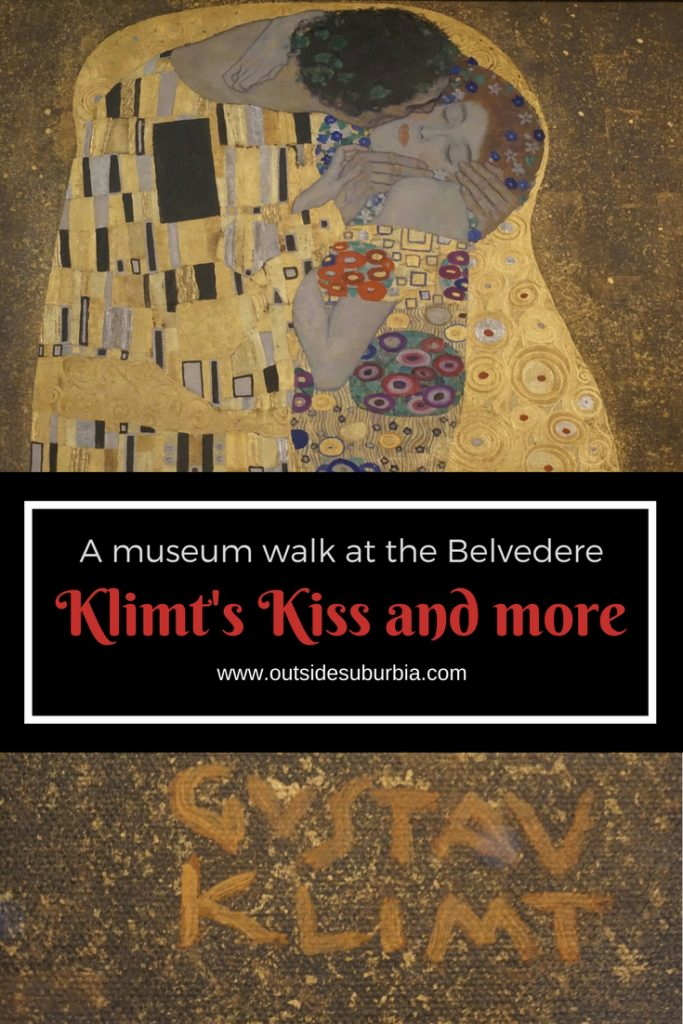 A museum walk at the Belvedere in Austria which houses the works by Gustav Klimt including the famous Kiss.