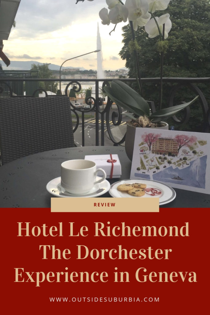 From the lobby floral displays to the sparkly chandeliers, plush carpets and stellar service - Le Richmond Hotel Geneva seems fit for royalty. #OutsideSuburbia #GenevaHotels #HotelLeRichemond