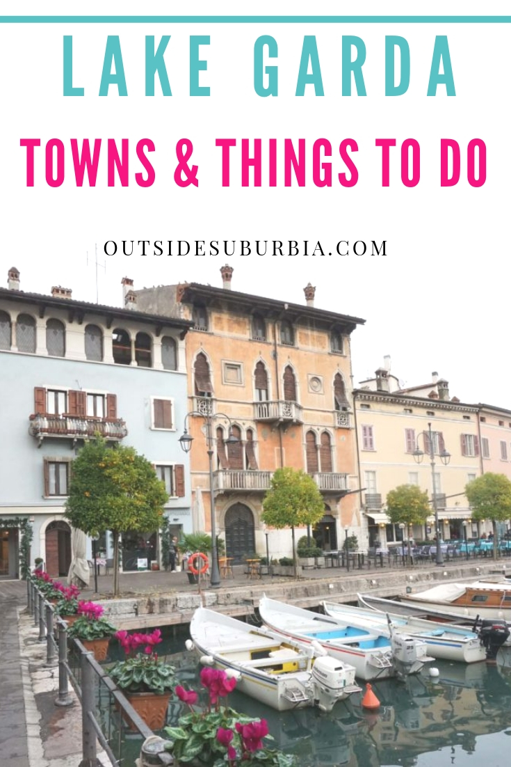 Lake Garda or Lago di Garda as it is called by the Italians, is a popular holiday destination located in northern Italy, between Venice and Milan.  #LakeGarda #GardaThingsTodoDo #ThingstodoInLakeGarda #OutsideSuburbia