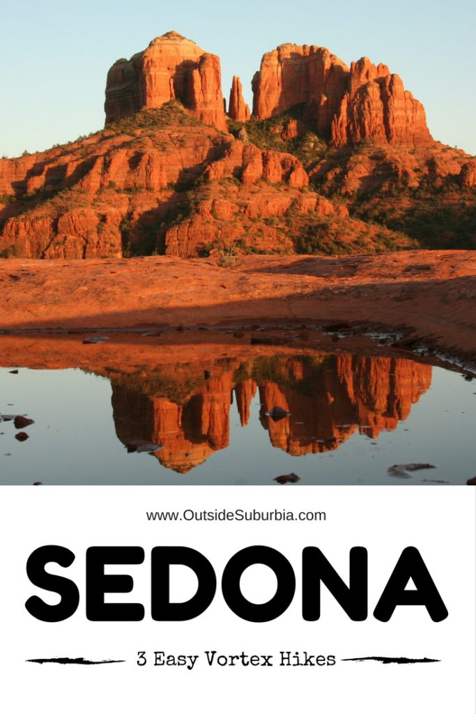 Whether you believe in sacred vortexes and spiritual energies or not Sedona is the perfect place for outdoor hikes, watch spectacular sunsets and recharge. Try these 3 easy Sedona Vortex Hikes on you next visit. #OutsideSuburbia #SedonaVortexHikes #ThingsTodoInSedona #SedonaAttractions #SedonaVisit