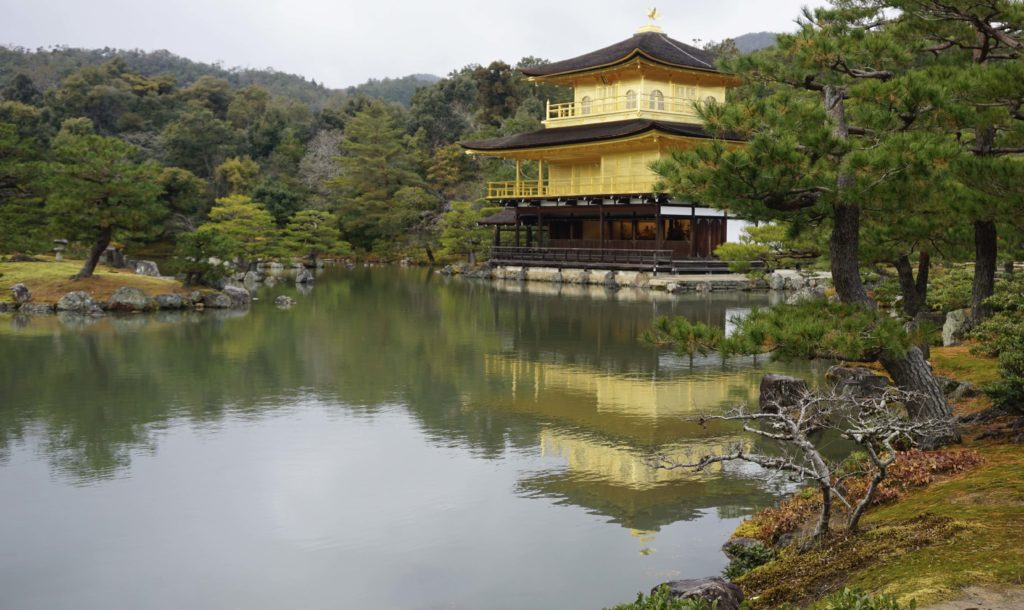 Golden Temple Pavilion, Kyoto. Two week Japan Itinerary - Photo by Outside Suburbia