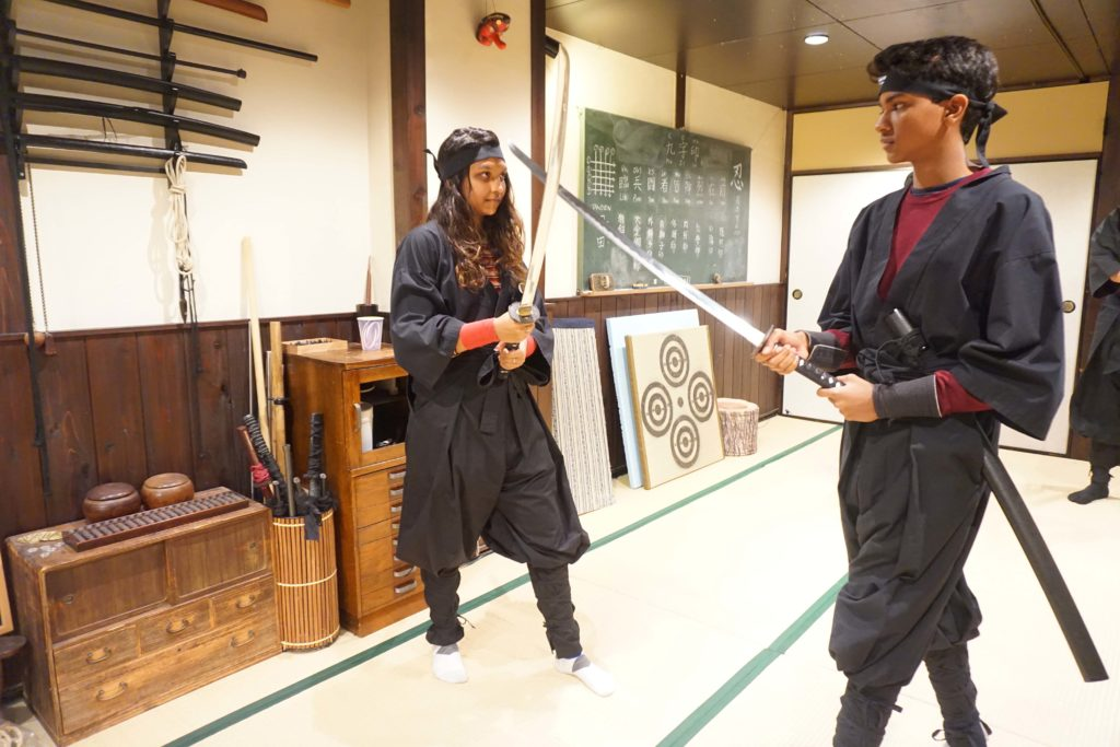 Ninja lesson in Kyoto, Japan Two week Japan Itinerary - Photo by Outside Suburbia