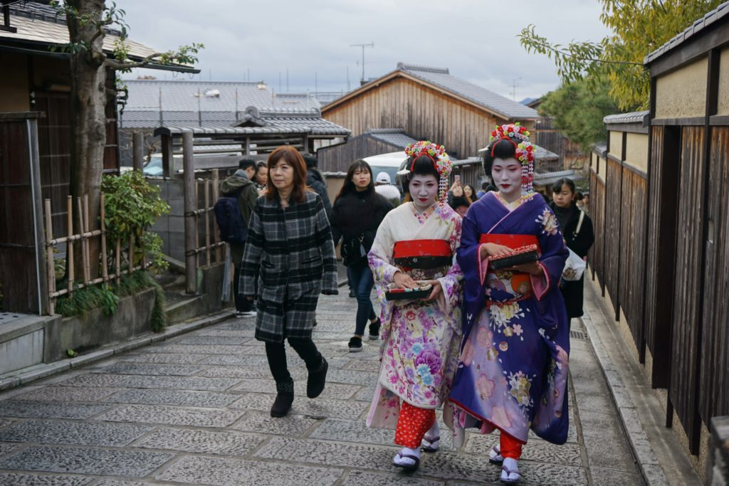 Geishas in Kyoto. Two week Japan Itinerary - Photo by Outside Suburbia
