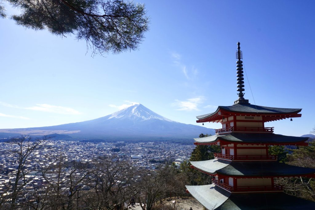 View of Mt.Fuji from Chureito Pagoda
