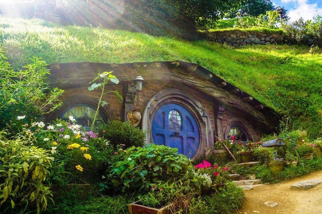 Hobbiton Movie Set in the North Island's town of Matamata