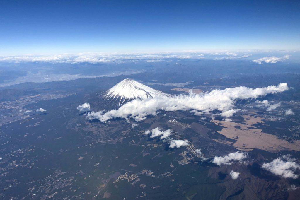 Aerial view of Mt Fuji #FujiSan