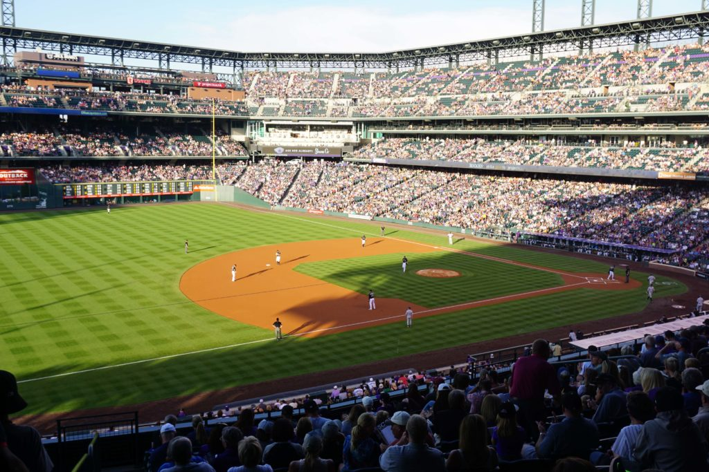 Coors Field, home of Major League Baseball's Colorado Rockies. See the all other things to do in Denver, Colorado with kids #Denver #Colorado #ThingsToDo #Baseball